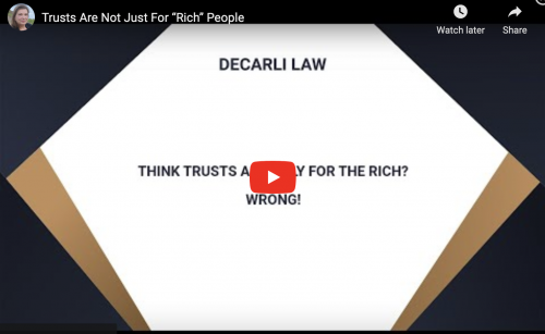 Trusts Are Not Just For �…